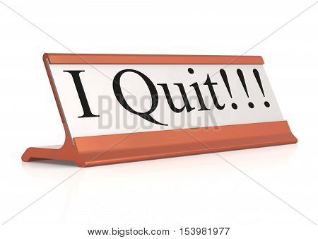 I Quit Table Tag