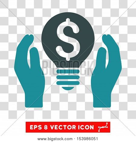 Patent Care vector icon. Image style is a flat soft blue iconic symbol.