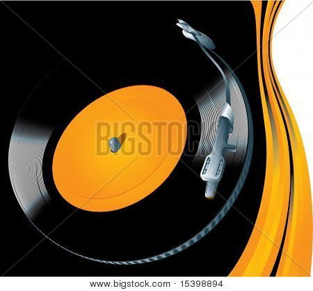 DJ background. Vector