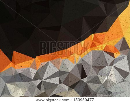 Black , orange and gray triangle abstract background illustration