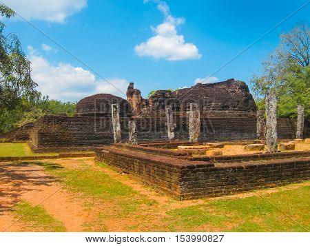 The Polonnaruwa temple - medieval capital of Ceylon or Sri Lanka Asia UNESCO