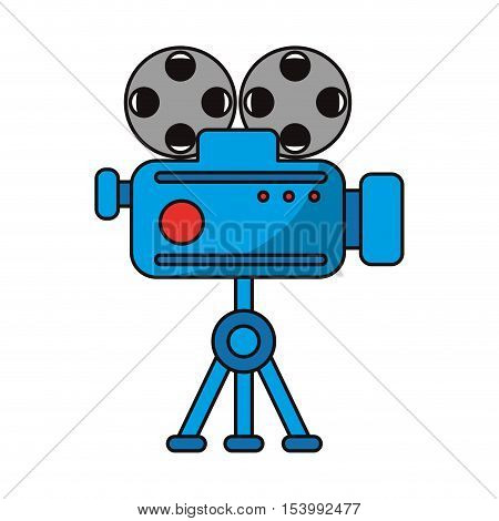 Cinema videocamera icon. Movie video media and entertainment theme. Isolated design. Vector illustration