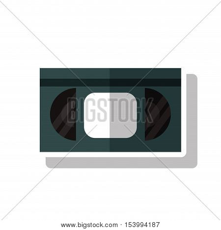 Cinema vhs icon. Movie video media and entertainment theme. Isolated design. Vector illustration