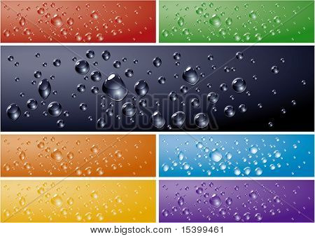 Water drops backgrounds. Vector.