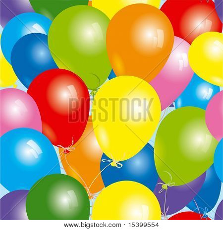 Seamless Balloons. Vector background.