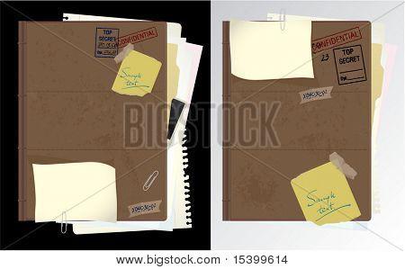 Secret folder. Vector.