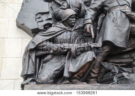 Bas-relief Of The Soviet Soldiers