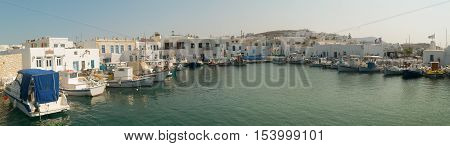 Naoussa port at Paros island in Greece.