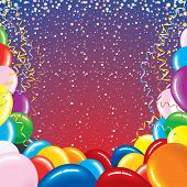 Festive vector background for your text -MORE BALLOONS SEE AT MY GALLERY poster