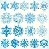 Snowflakes Collection - christmassy vector design elements poster