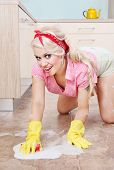 Sexy housewife cleaning the floor, similar available in my portfolio poster