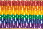 Rainbow Colored Fabric Texture Extreme Close Up poster