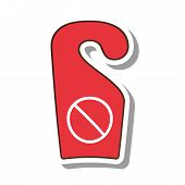 do not disturb notice icon vector illustration design poster