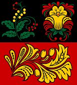Vegetative pattern in traditional Russian style. Design element. poster