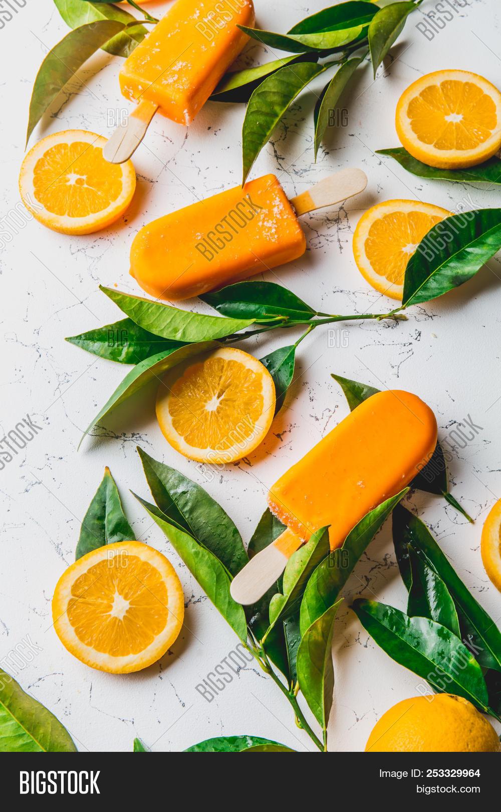 Homemade Orange Ice Image Photo Free Trial Bigstock
