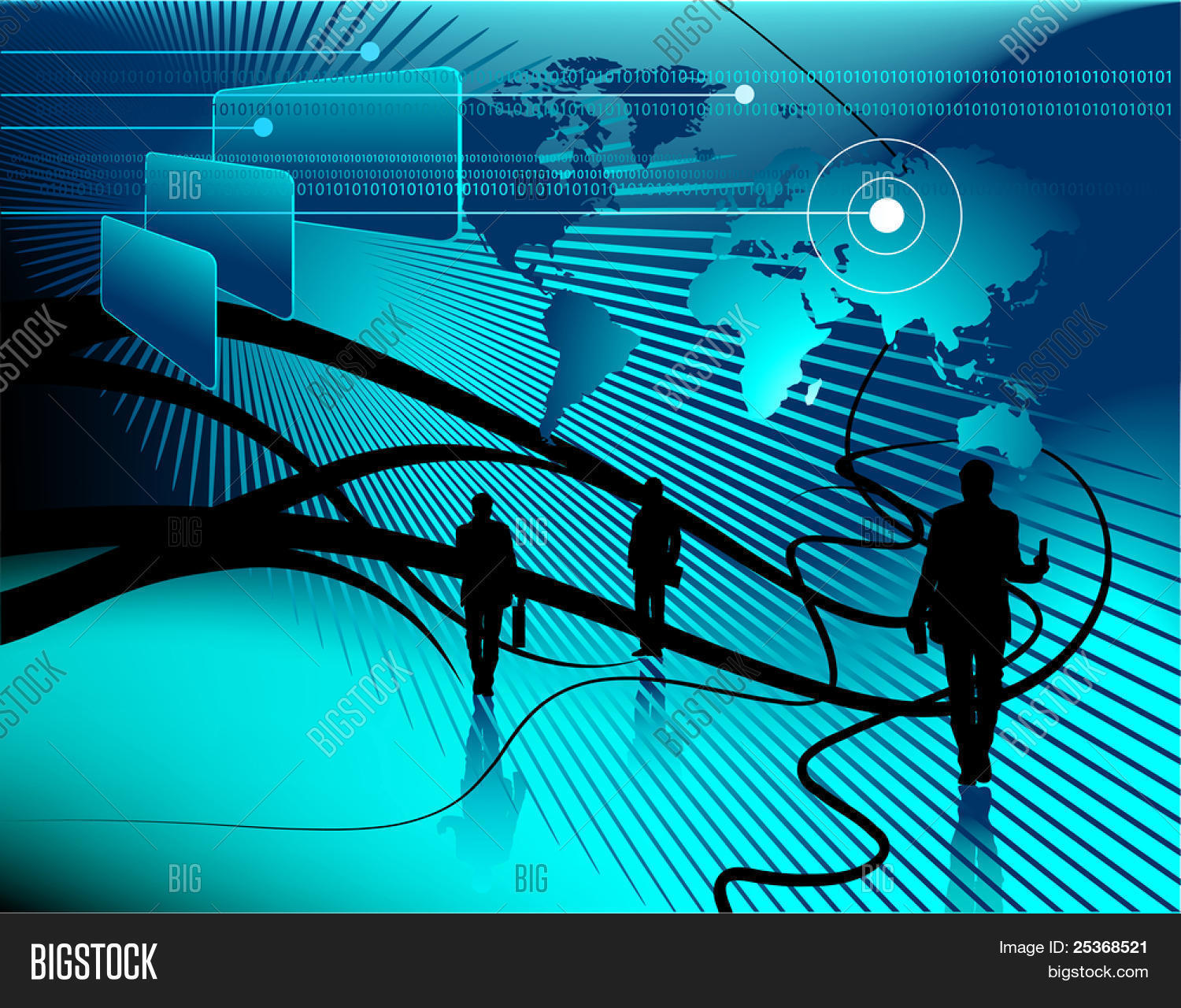 Technology abstract vector photo free trial bigstock technology abstract background world map business project and binary code on computer display gumiabroncs Image collections
