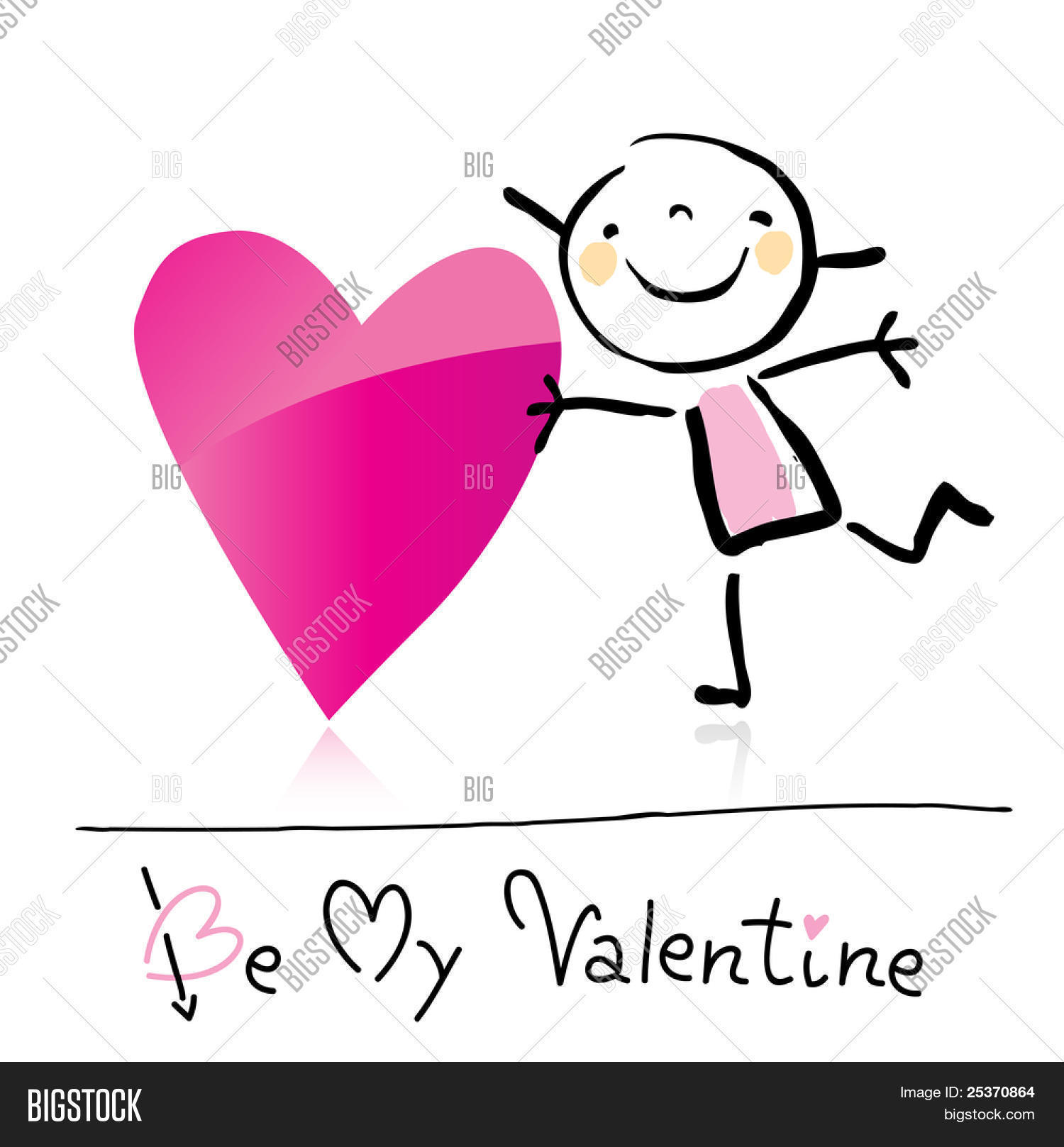 Valentine S Day Cute Vector Photo Free Trial Bigstock