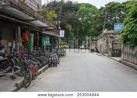 Bicycle Rental 11 April 2018 Pokhara, Nepal.