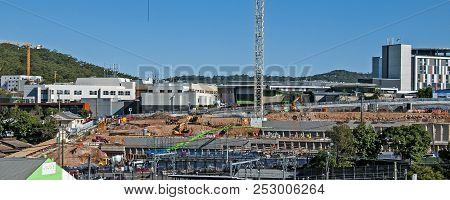 Gosford, Australia - May 7. 2018: Construction And Building Progress On Gosford Hospital Facilities