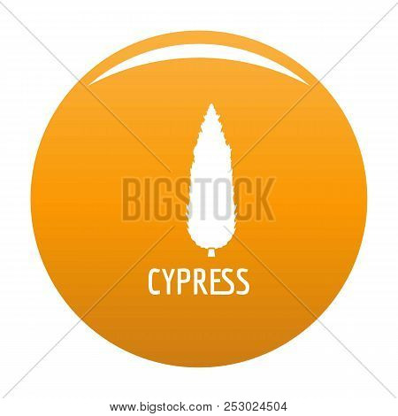 Cypress Tree Icon. Simple Illustration Of Cypress Tree Vector Icon For Any Design Orange