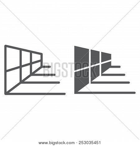Perspective Grid Tool Line And Glyph Icon, Tools And Design, Perspective Sign, Vector Graphics, A Li