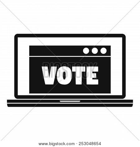 Online Vote Icon. Simple Illustration Of Online Vote Icon For Web Design Isolated On White Backgroun