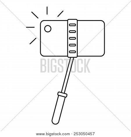 Take Photo Monopod Icon. Outline Take Photo Monopod Icon For Web Design Isolated On White Background