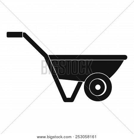 Hand Truck One Wheel Icon. Simple Illustration Of Hand Truck One Wheel Icon For Web Design Isolated