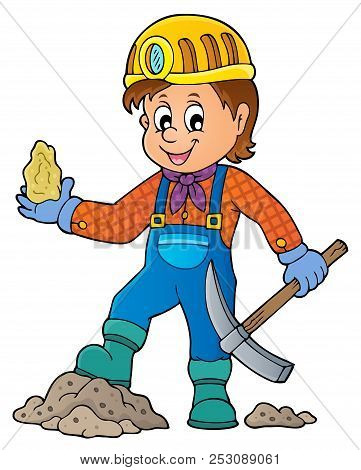 Miner Theme Image 1 - Eps10 Vector Picture Illustration.