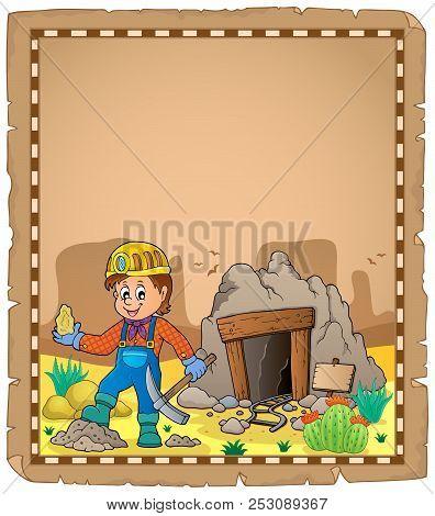 Miner Theme Parchment 2 - Eps10 Vector Picture Illustration.