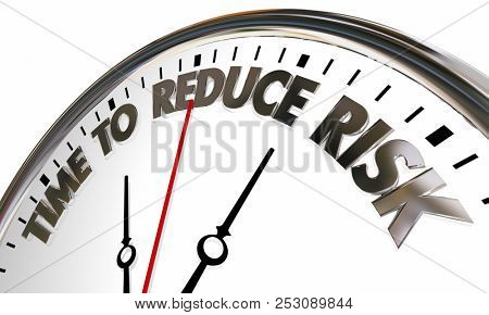 Time to Reduce Lisk Liability Mitigation Clock 3d Illustration