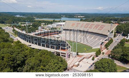 August 09, 2018 - Clemson, South Carolina, USA: Frank Howard Field at Clemson Memorial Stadium, popularly known as