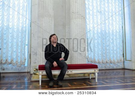 Man Resting In The St George Hall