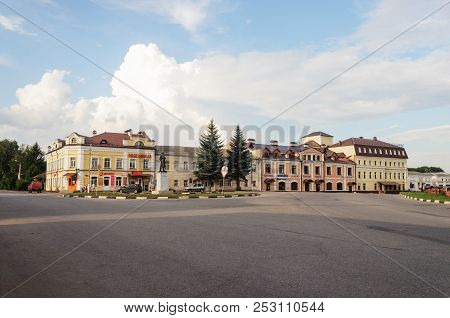 Yuriev-polsky, Russia - July 15, 2018: Soviet Square In Center Of Ancient Russian Town Of Yuriev-pol