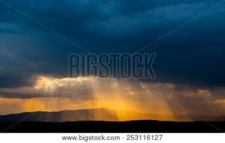 Wolkenstimmungen bei einem Gewitter