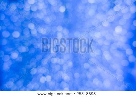 Abstract Blue Bokeh Circles For Christmas Background. Royalty High-quality Free Stock Photo Of Chris