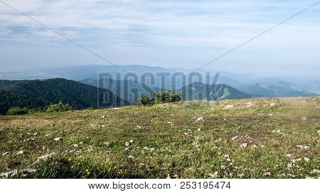 View To Revan Hill And Many Hills Of Strazovske Vrchy Mountains From Klak Hill In Lucanska Mala Fatr
