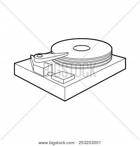 hdd icon outline style image photo free trial bigstock Alignment Diagram hdd icon in outline style on a white background
