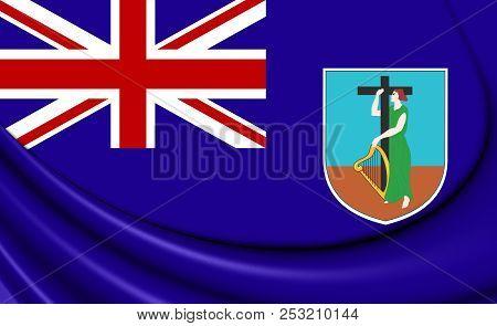 3d Flag Of The Montserrat. 3d Illustration.