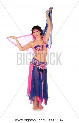 Bellydance Woman On White