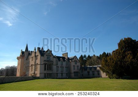 May 1st 2018 - Moray, Scotland: The Historic Brodie Castle On A Clear Spring Day.