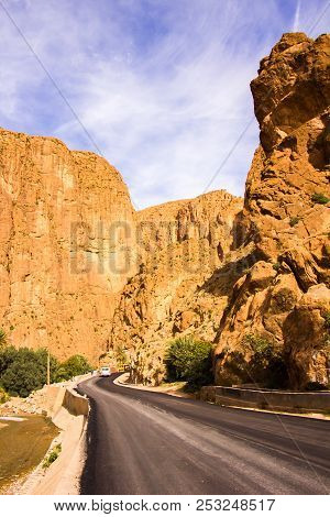 Todgha Gorge Is Canyon In Atlas Mountains, Near Tinghir In Morocco