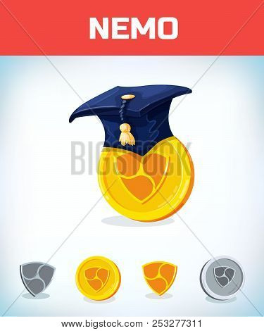 Nemo In College Alumni Hat. Nemo. Digital Currency. Crypto Currency. Money And Finance Symbol. Miner