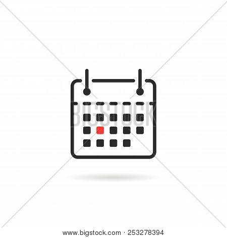 Tear-off Calendar Icon Isolated On White. Simple Flat Linear Trend Modern Logotype Graphic Mobile Ap