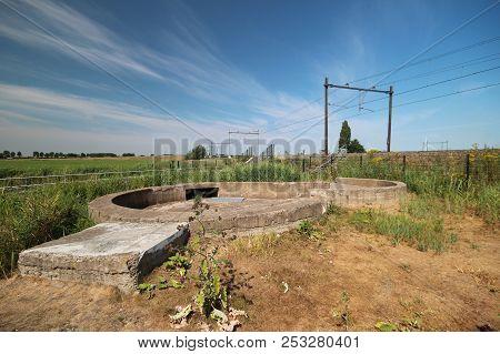 Remains Of A Gunshot Dome From World War 2 In The Zuidplaspolder In Moordrecht In The Netherlands