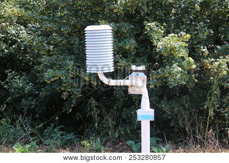 Weather Station Along The Dutch Motorway At Moordrecht To Measure And Warn At Risk Of Slippery Roads