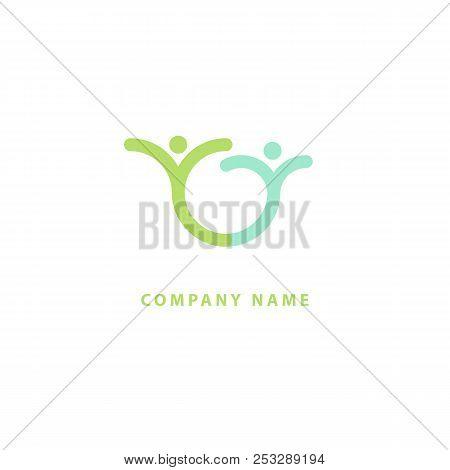 Abstract Community Logo Icon Vector Design. Creative Agency, Social Work, Teamwork, Business, Advert