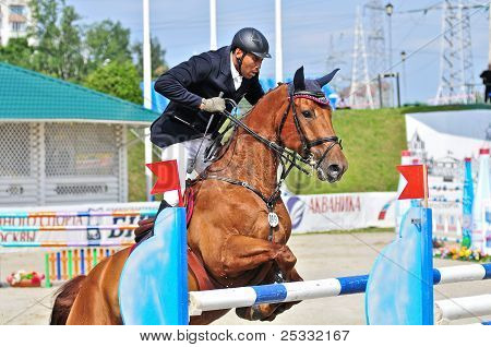 Rider With Show Jump Horse