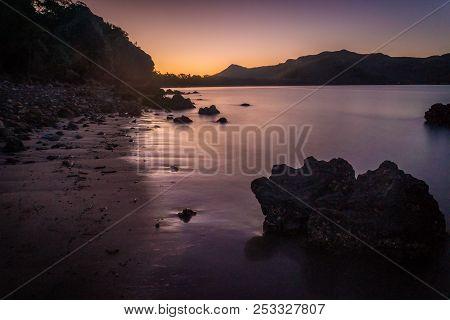 Purple Sunset In Cape Hillsborough National Park, Australia