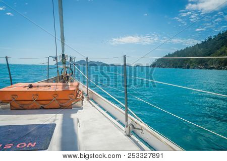 Sailing On A Boat To The Whitsundays Island In Australia